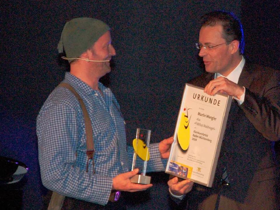 Martin Wangler aus Breitnau hat den Kl...des Landes Baden-Württemberg erhalten.  | Foto: Sebastian Barthmes