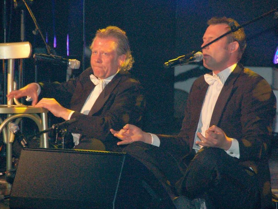 Tilo Nest und Alexander Päffgen vom Tr... die Hits der schwedischen Kultgruppe.  | Foto: Sebastian Barthmes