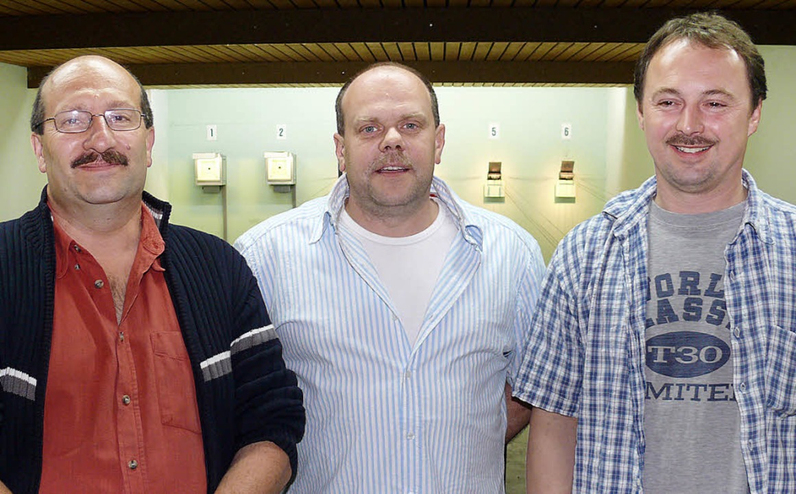 Das Vorstandstrio des Oberschopfheimer...Heitz und Michael Röderer (von links)     Foto: Frank Leonhardt