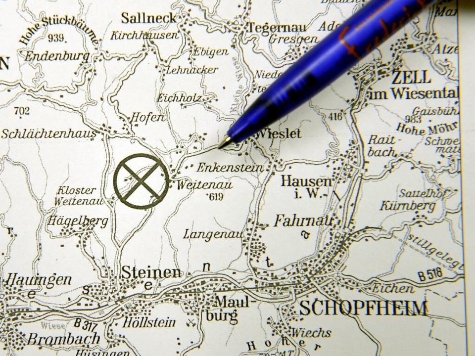 Das Epizentrum auf der Landkarte  | Foto: dpa