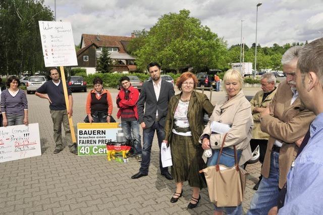 Protest gegen Discounter Aldi
