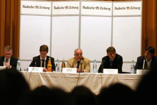 Podiumsdiskussion zum Pumpspeicherkraftwerk im Hotzenwald