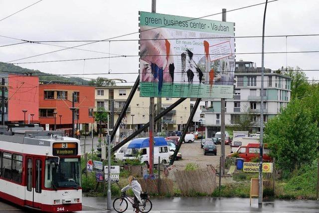 Linke besetzen Bauplatz im Freiburger Vauban