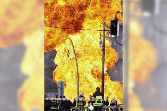 Bilder des Tages: GASEXPLOSION