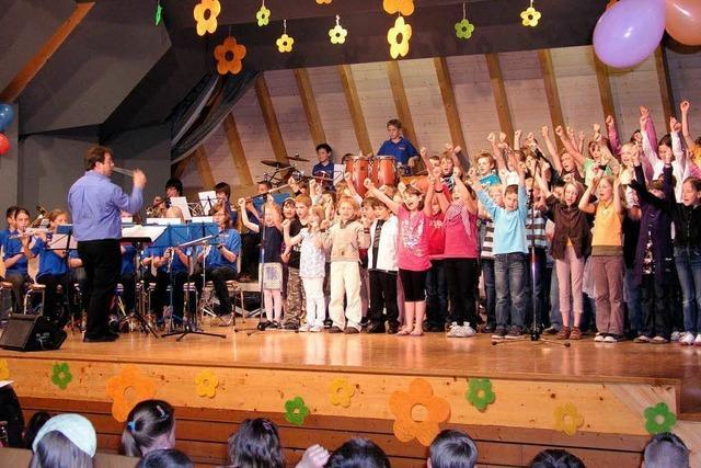 Die Jüngsten ganz groß auf der Bühne