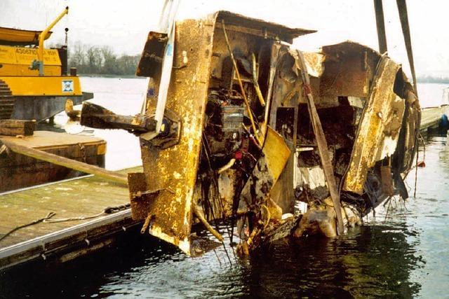 Als der Rhein drei Boote mitnahm und den Yachthafen zerstörte