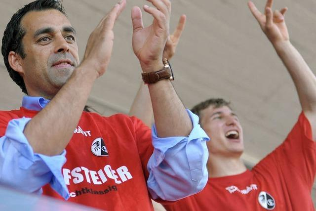 SC Freiburg: Erst gegen Fürth spielen, dann Aufstieg feiern