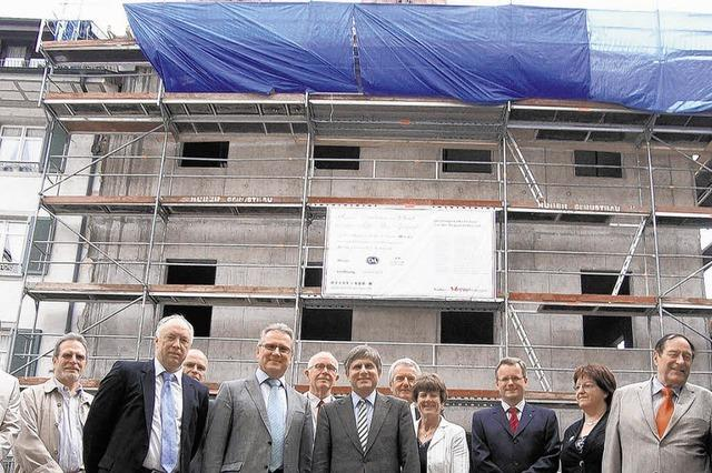4,5-Millionen-Euro-Bau feiert Richtfest