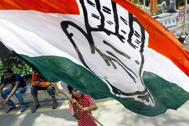 Erdrutschsieg für Kongress-Partei in Indien