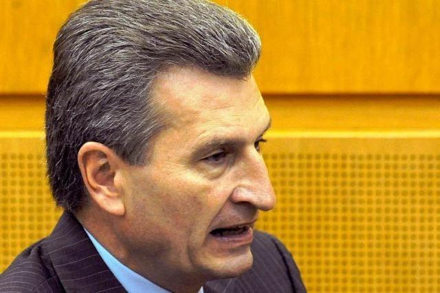 Oettinger: Bürgschaftsrahmen auf über zwei Milliarden