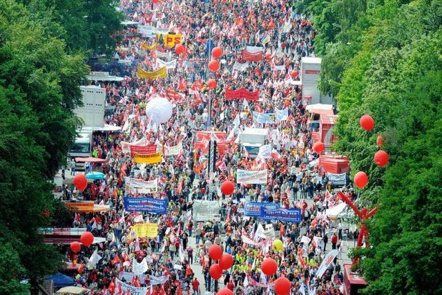 Wirtschaftskrise: Großdemonstration in Berlin