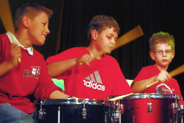 Das Schlagzeug ist offenbar Jungenssache