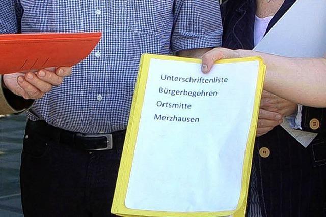 Initiative übergibt knapp 600 Unterschriften