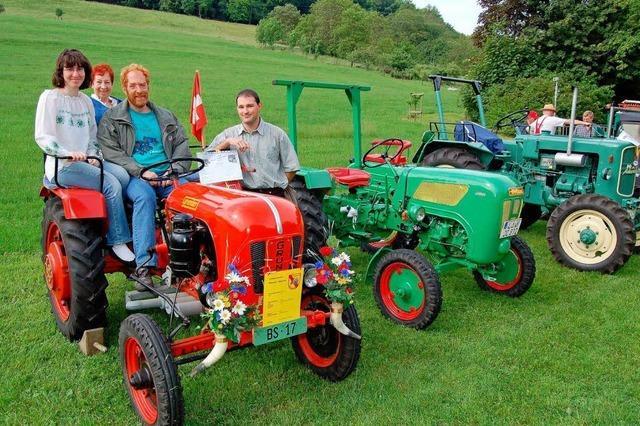 Alte Traktoren locken