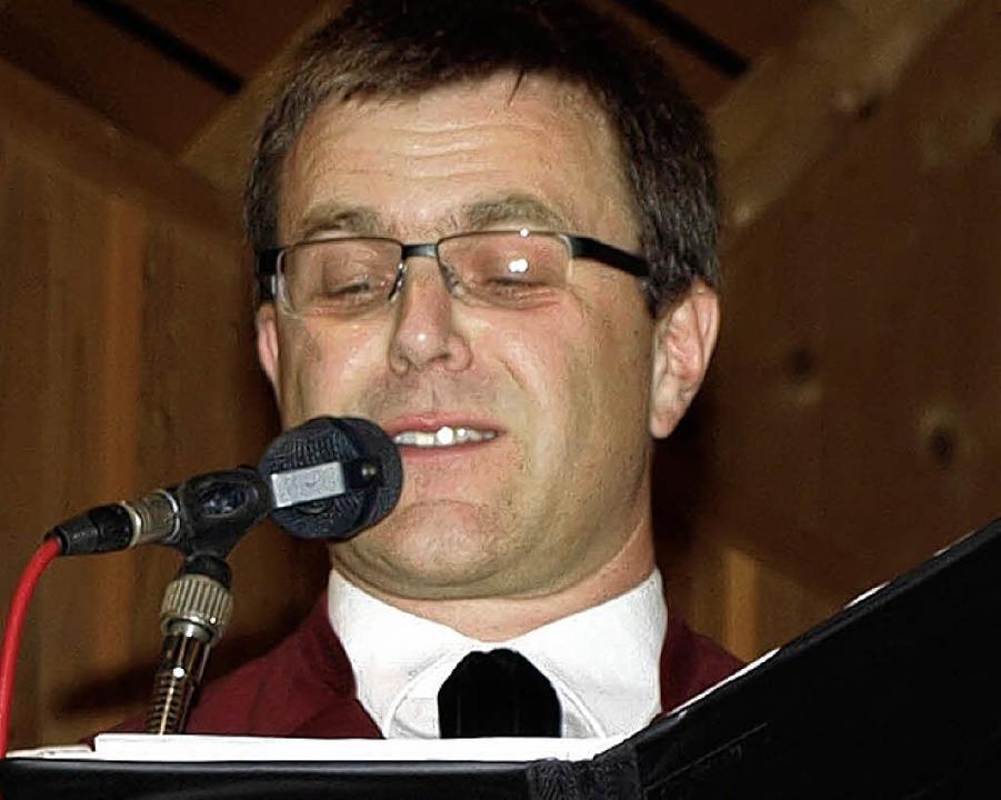 Markus Mark wurde für 25 Jahre Chorgesang geehrt.  | Foto: Marion Pfordt