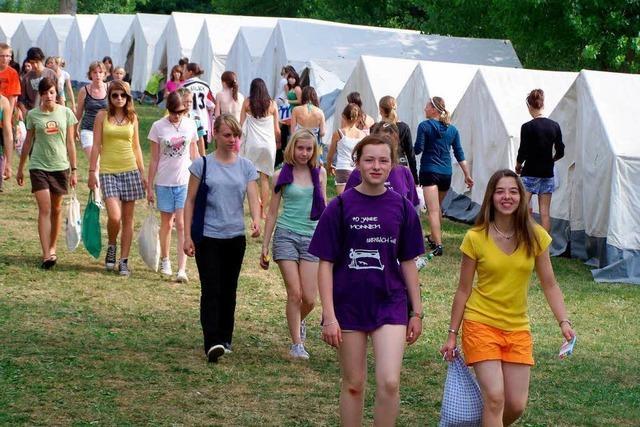 Großes Zeltlager der badischen Turnerjugend