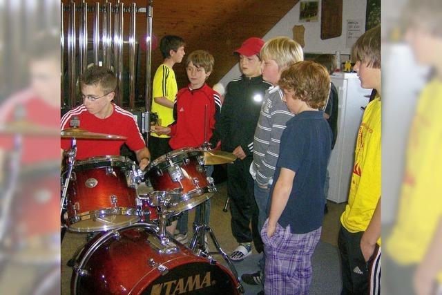 Das Schlagzeug war der Favorit