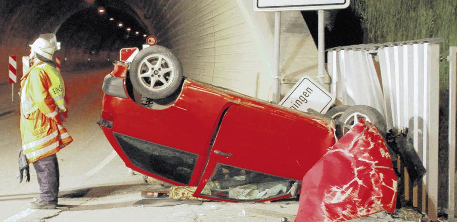 Ein  45-Jähriger aus Löffingen übersch...ger Tunnel und wurde schwer verletzt.     Foto: BZ