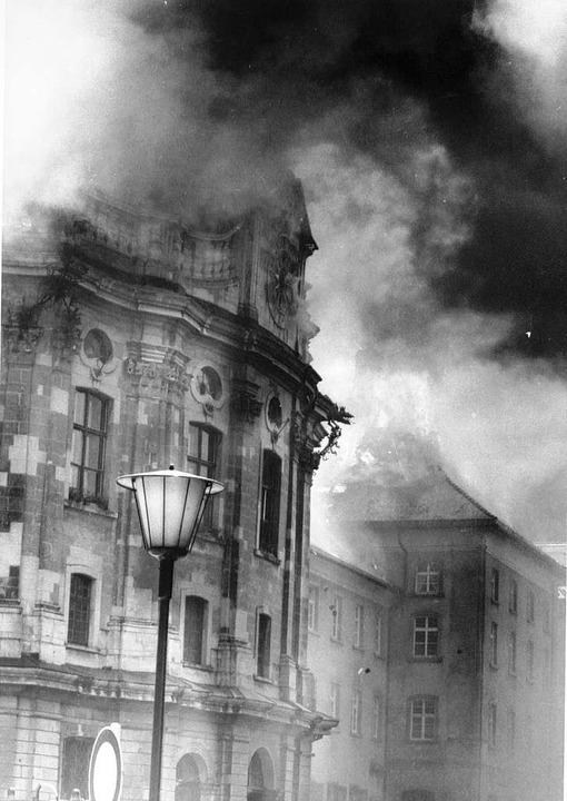 Pfingsten 1977: Großbrand im Kolleg St. Blasien.  | Foto: BZ-Archiv