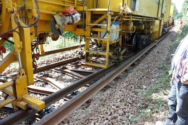 Die Gleise der Elztalbahn werden komplett erneuert