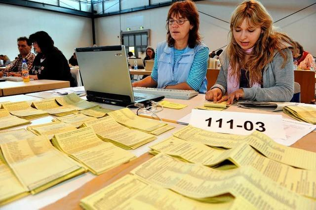 Fotos: Die Auszählung der Kommunalwahl in Freiburg