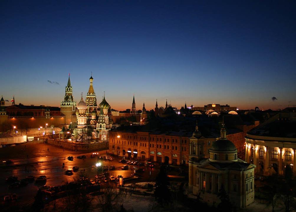 Postkartenmotiv: der Rote Platz mit Basilius-Kathedrale und Kreml  | Foto:  photocase.de/Johannes Theimer