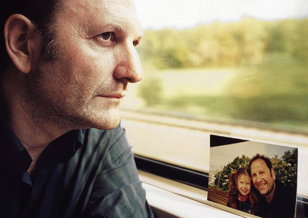 Douglas Wolfsperger, Papa-Tochter-Foto  | Foto: gm