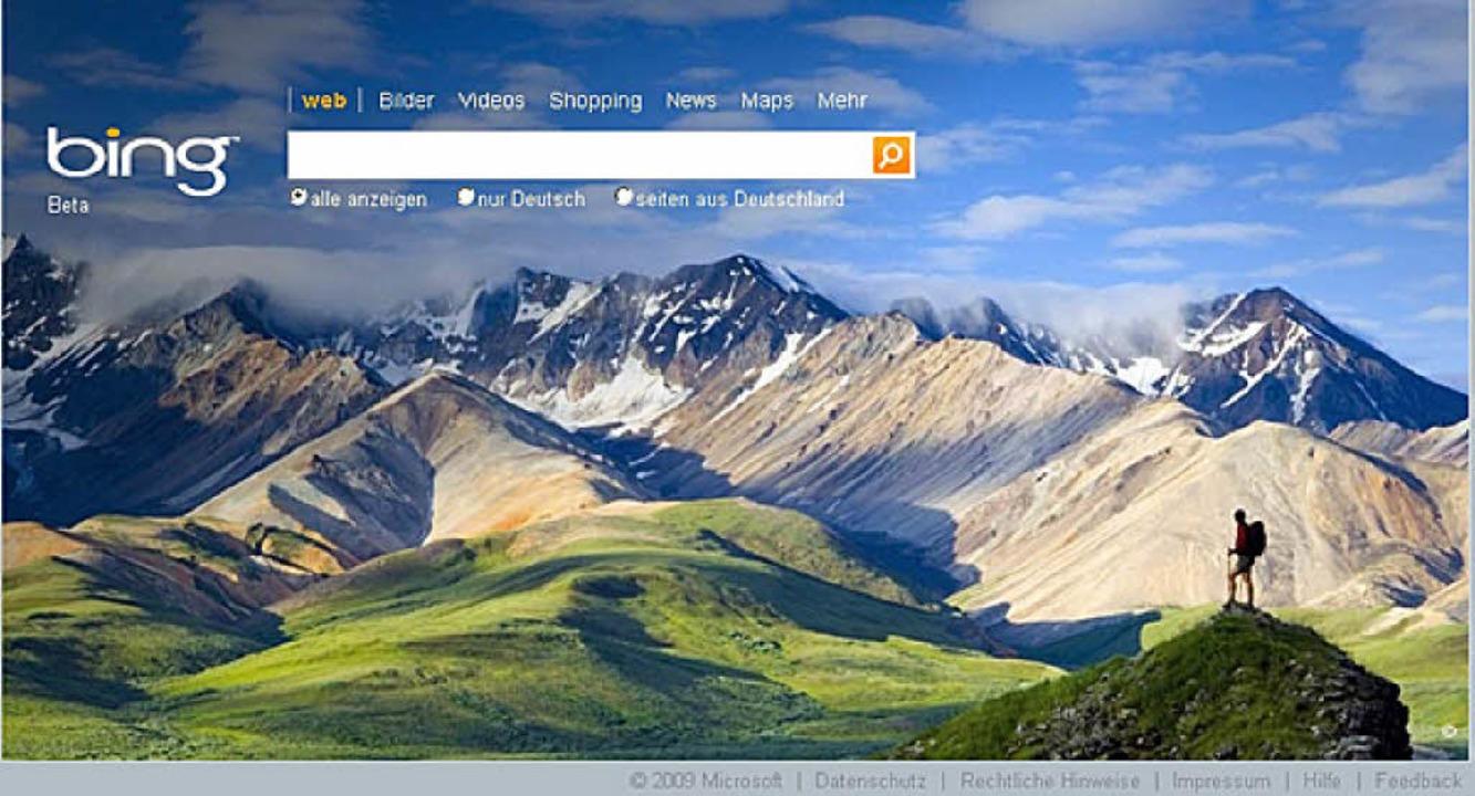 Täglich neues Bild: Bing    Foto: dpa