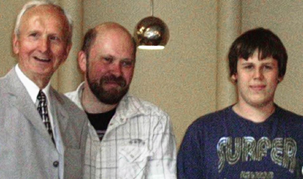 Andreas Heimann (rechts) bei der Siegerehrung     Foto: PRIVAT