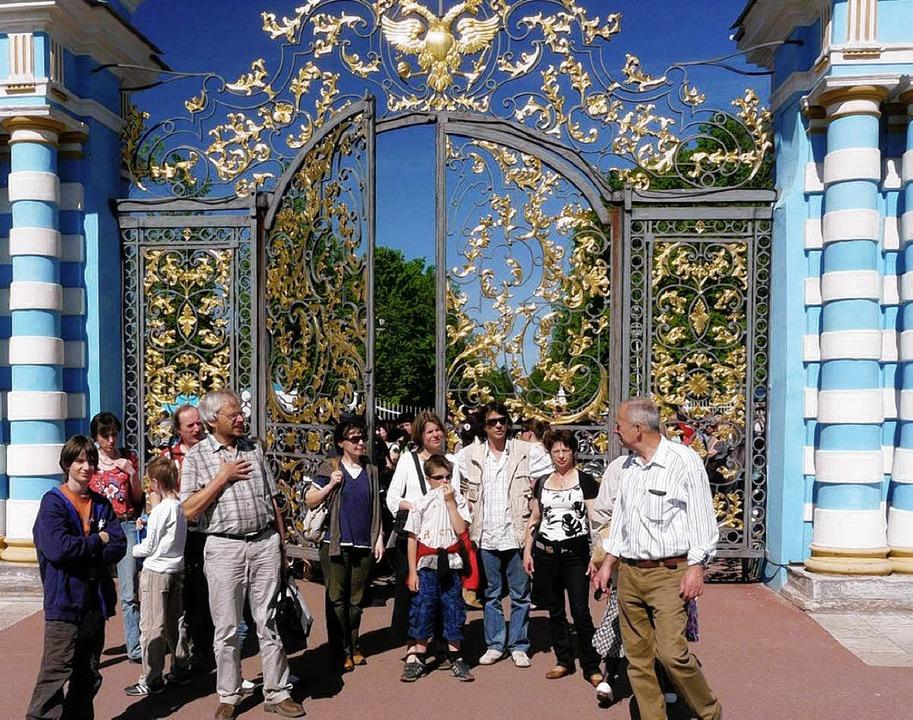 Die Besuchergruppe  vom Freundeskreis ...Nr. 18, Alexander Sacharjuk (rechts).   | Foto: markus mattes