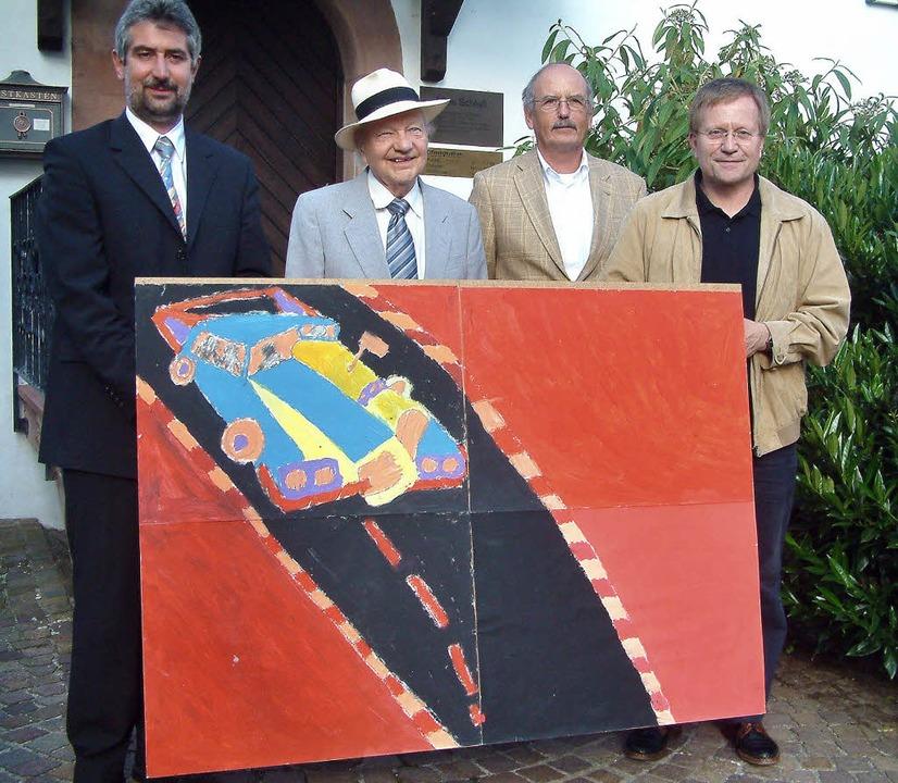 <Bildtext>Gruppenfoto mit Siegerbild: ...hristenheit</Bildtext> aus Reutlingen.  | Foto: Roswitha frey