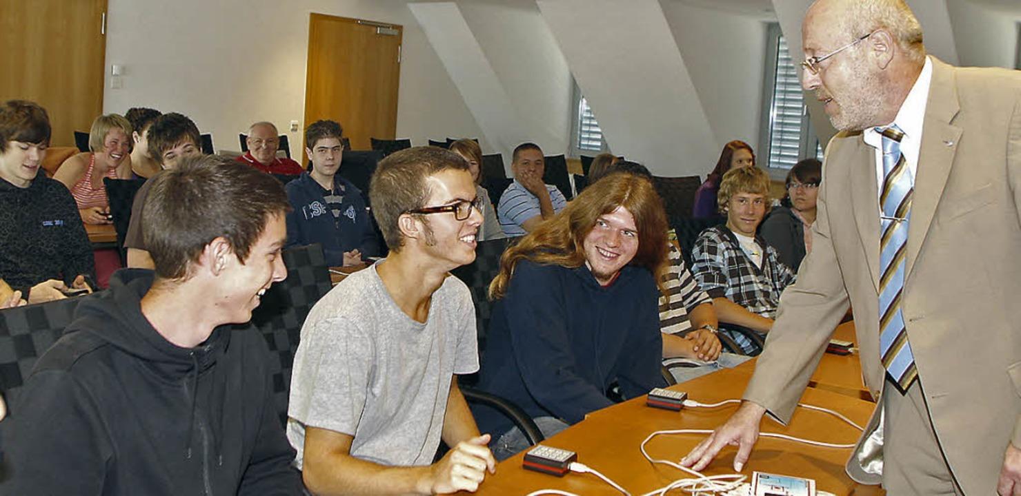 Bringt Schüler weiter in ihrer Berufsw...chts: Ausbildungsleiter Martin Dages.   | Foto: heidi fössel