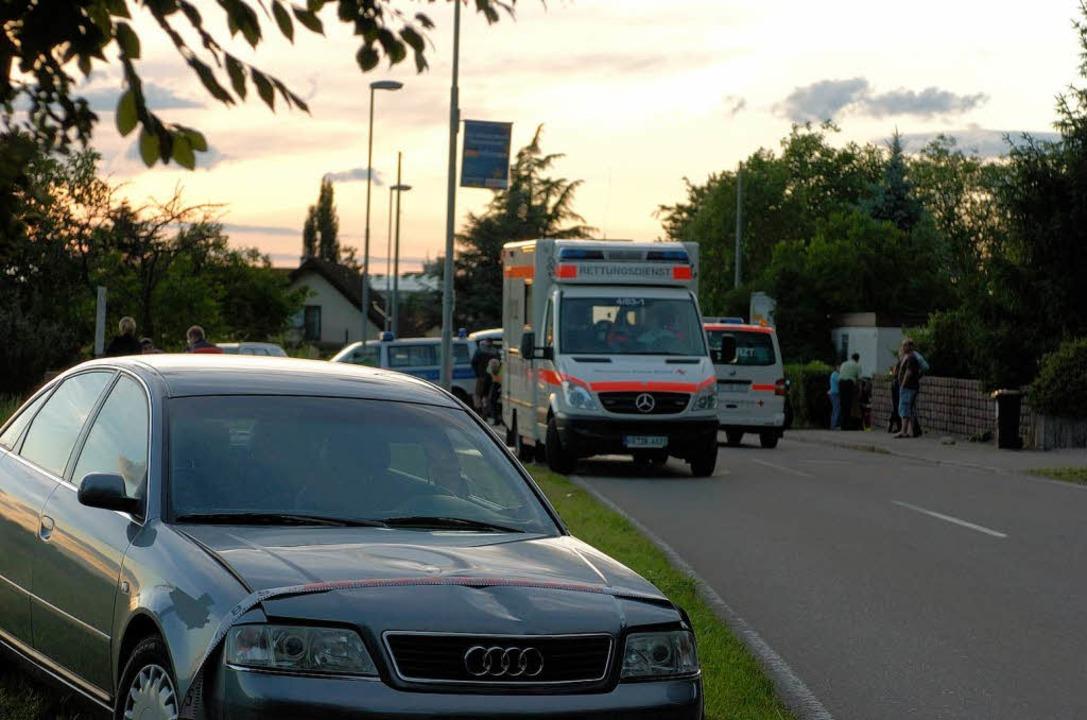 Die Unfallstelle auf der Münstertäler Straße in Staufen  | Foto: BZ