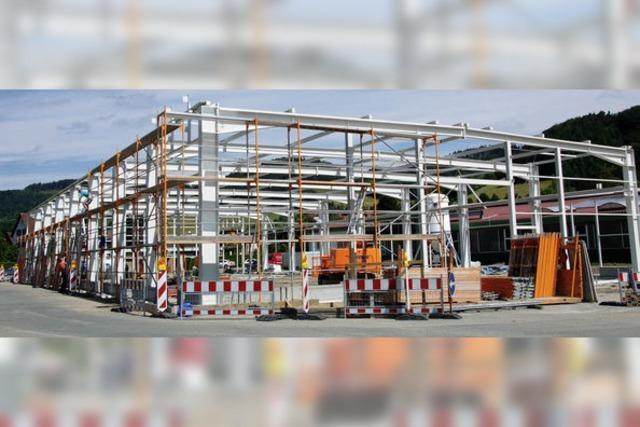 Neue Halle für die Produktion