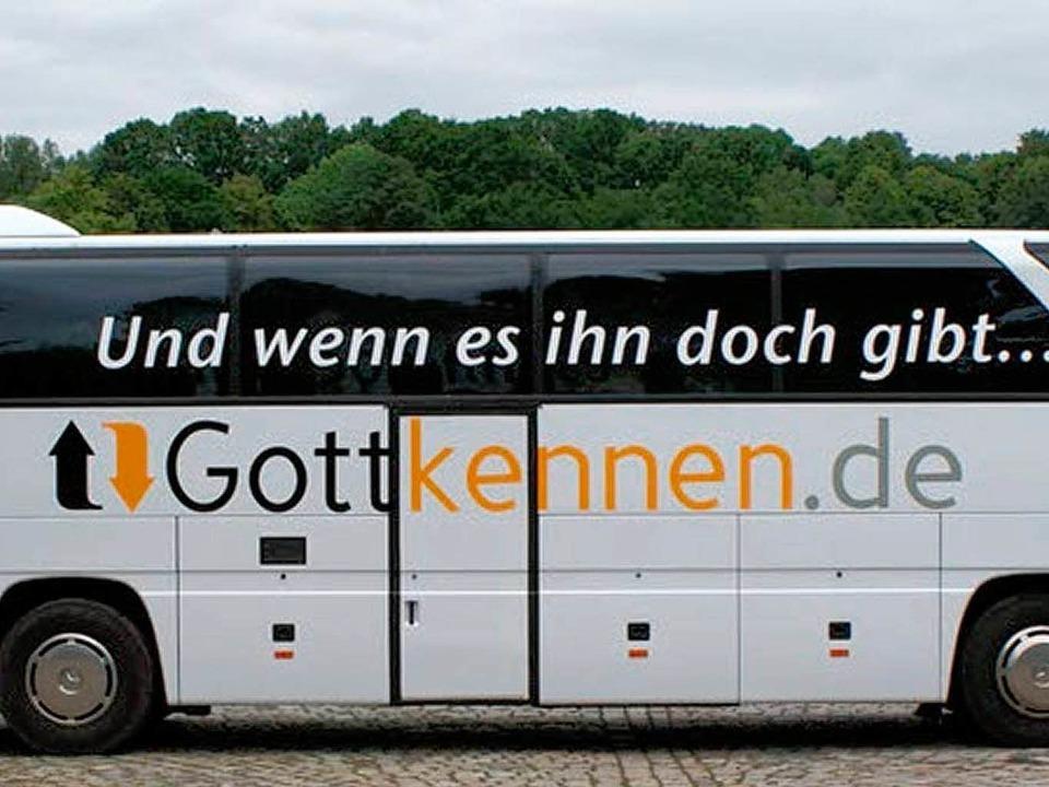 Der Gottkennbus des Vereins Campus für Christus  | Foto: BZ