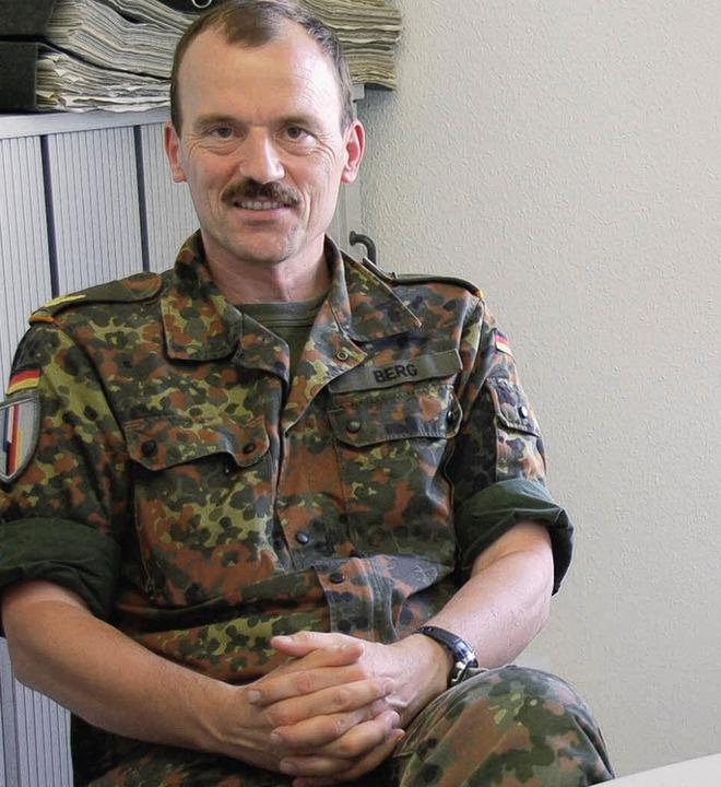 Brigadegeneral Andreas Berg, der Kommandeur der Brigade   | Foto: K. Meyer