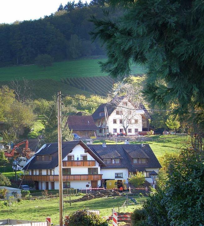 Der Birklehof (oben) muss Hochwasser n... die Bachanrainer in Hinterheuweiler.   | Foto: Frank Kiefer