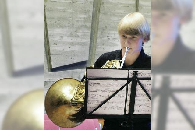 Julian freut sich, dass Musikalität vor Perfektion geht