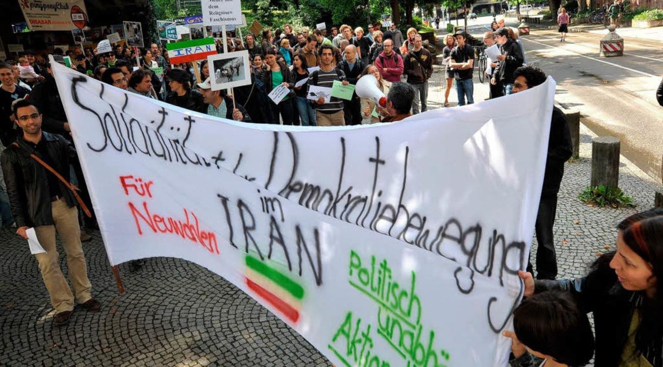 Solidarität mit dem iranischen Volk.  | Foto: Michael Bamberger