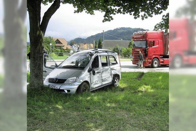 Schwerer Verkehrsunfall gestern am Schießbrückle