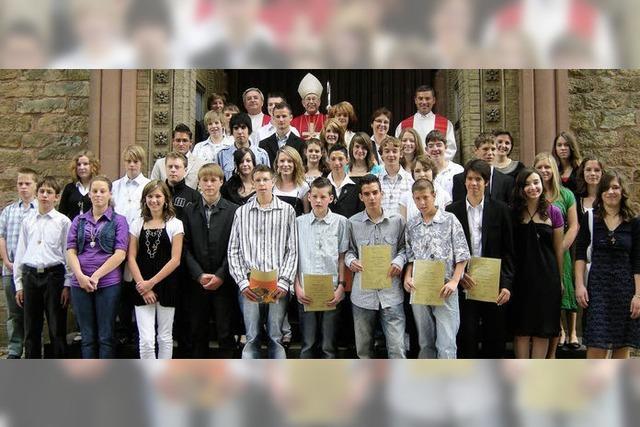 Applaus nach der Firmpredigt
