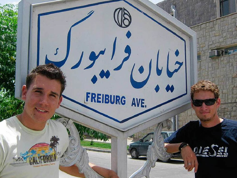 Dario Schröder (links) und Cornelius Hörner im Iran.    Foto: Privat