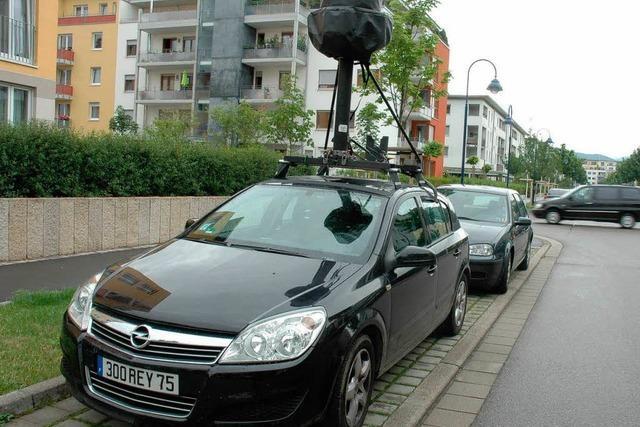 Google Street View späht Südbadens Straßen aus