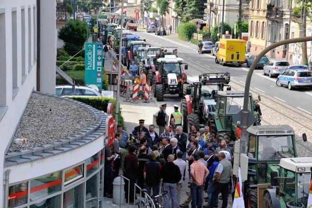 Dröhnender Protest in der Freiburger Innenstadt