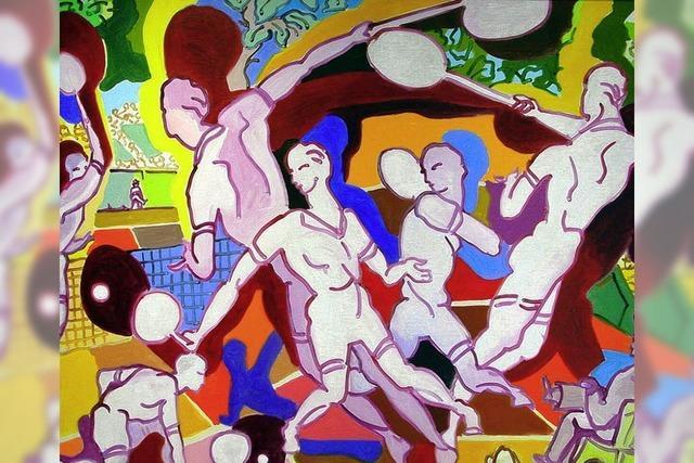 Moderne Kunst neben dem Altar