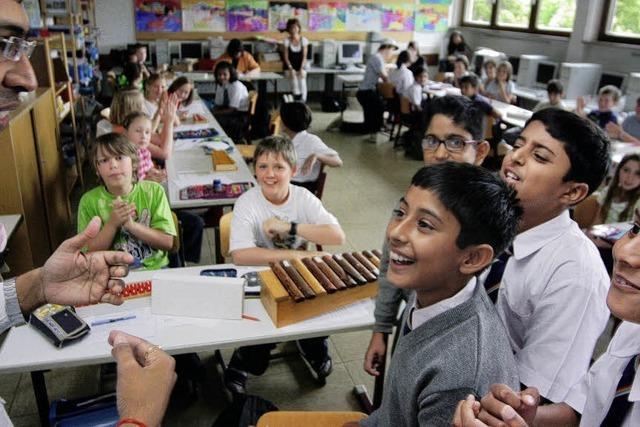 In Tumringen fühlen sich indische Schüler pudelwohl