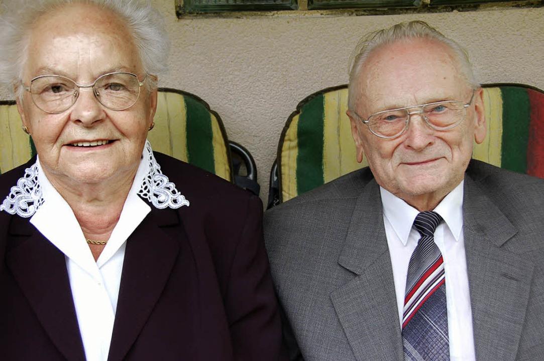 Maria und Josef Tränkle sind  60 Jahre verheiratet.   | Foto: Elfriede Mosmann