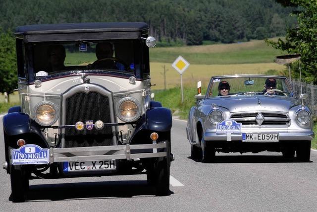 Oldtimer-Rallye streift Offenburg