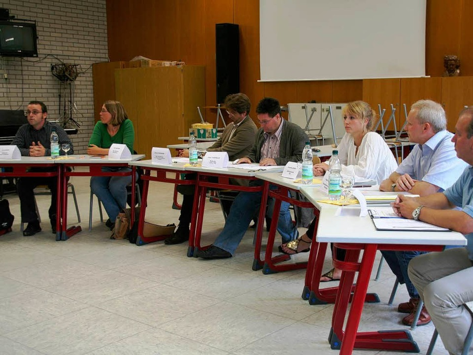 Mit dem Thema Gewaltprävention setzte ... Podiumsdiskussion am THG auseinander.    Foto: Marlies Jung-Knoblich