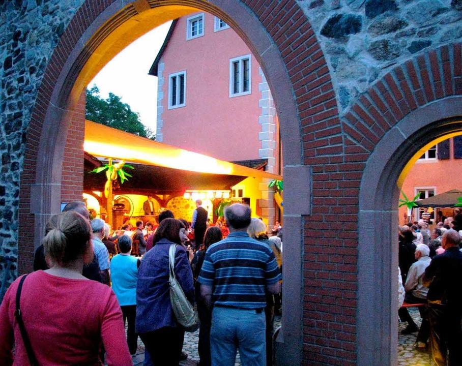Open-Air-Konzert in der zauberhaften Kulisse der Talvogei   | Foto: Rombach